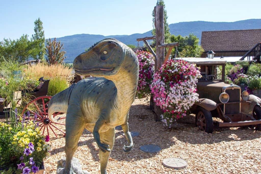 british columbia dinosaur sculpture