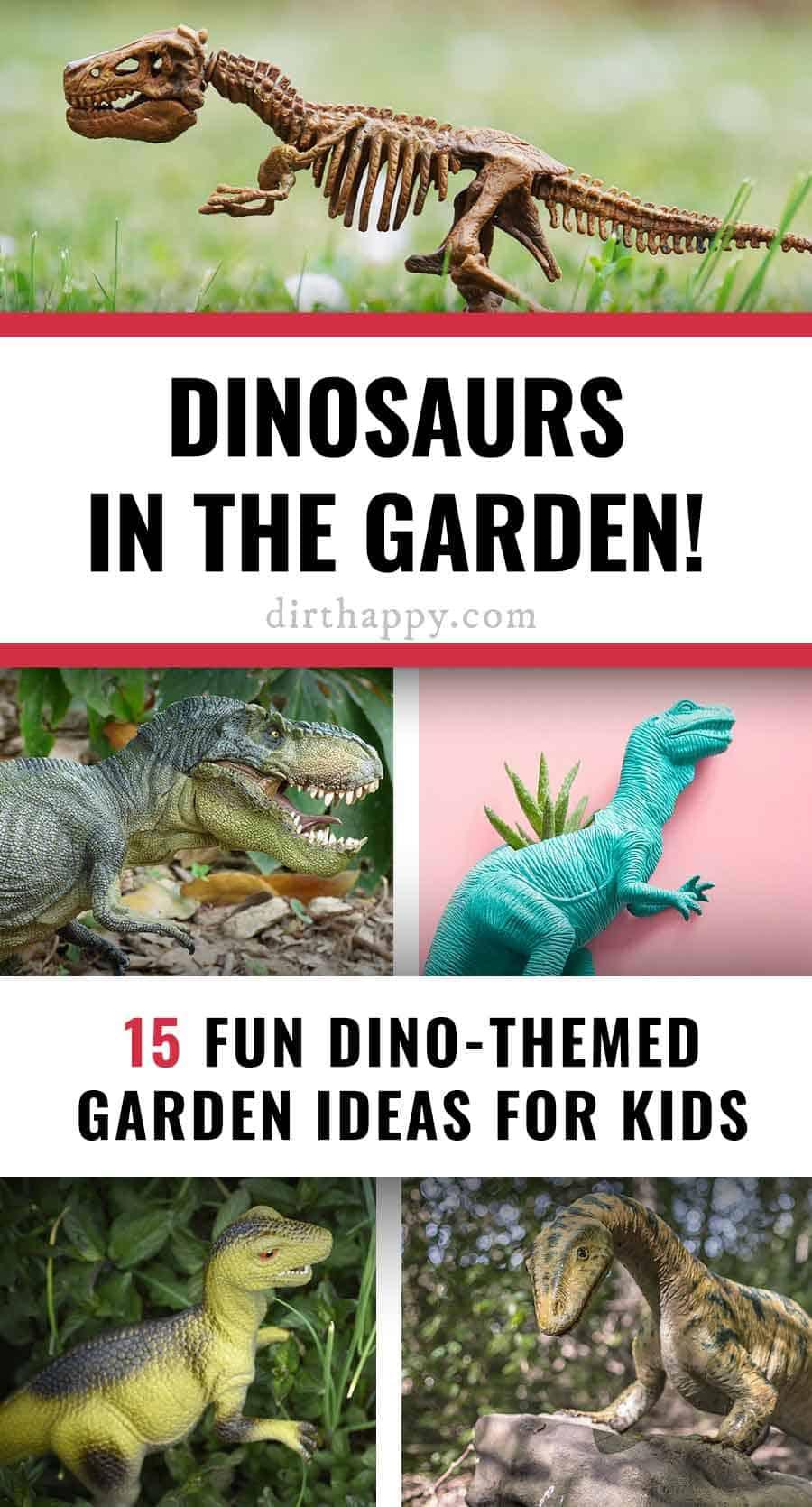 dinosaur garden ideas for kids