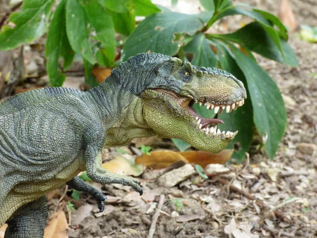t rex in the garden