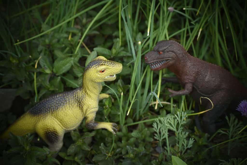 garden dinosaur minatures