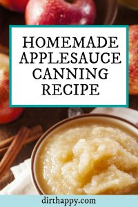 homemade applesauce canning recipe