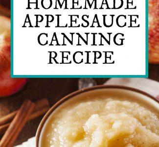 homemade applesauce canning recipe
