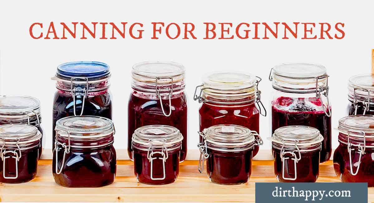 how to start canning for beginners