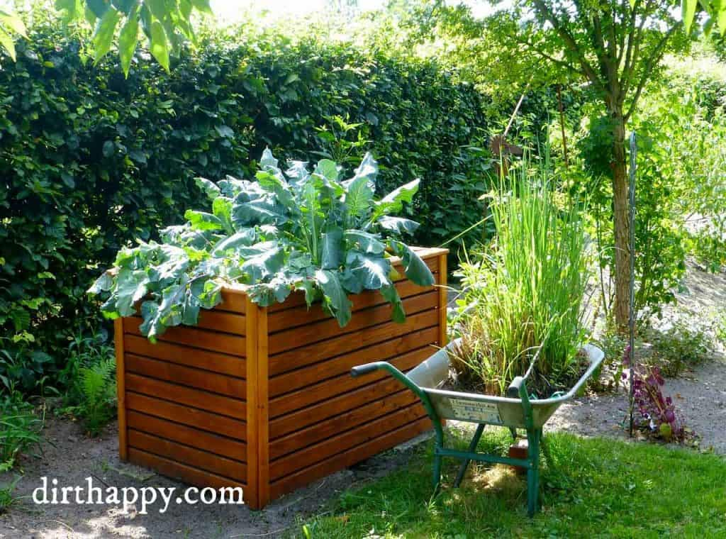This Is A Very Nice And Simple Small Raised Bed Garden. The Biggest  Advantage To Using A Tall Container Such As This One Is You Will Not Have  To Bend Down ...