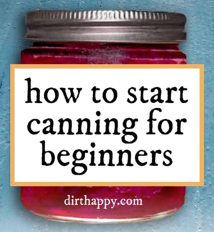 start canning for beginners