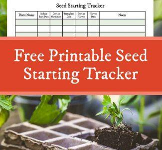 free printable seedling starter tracker