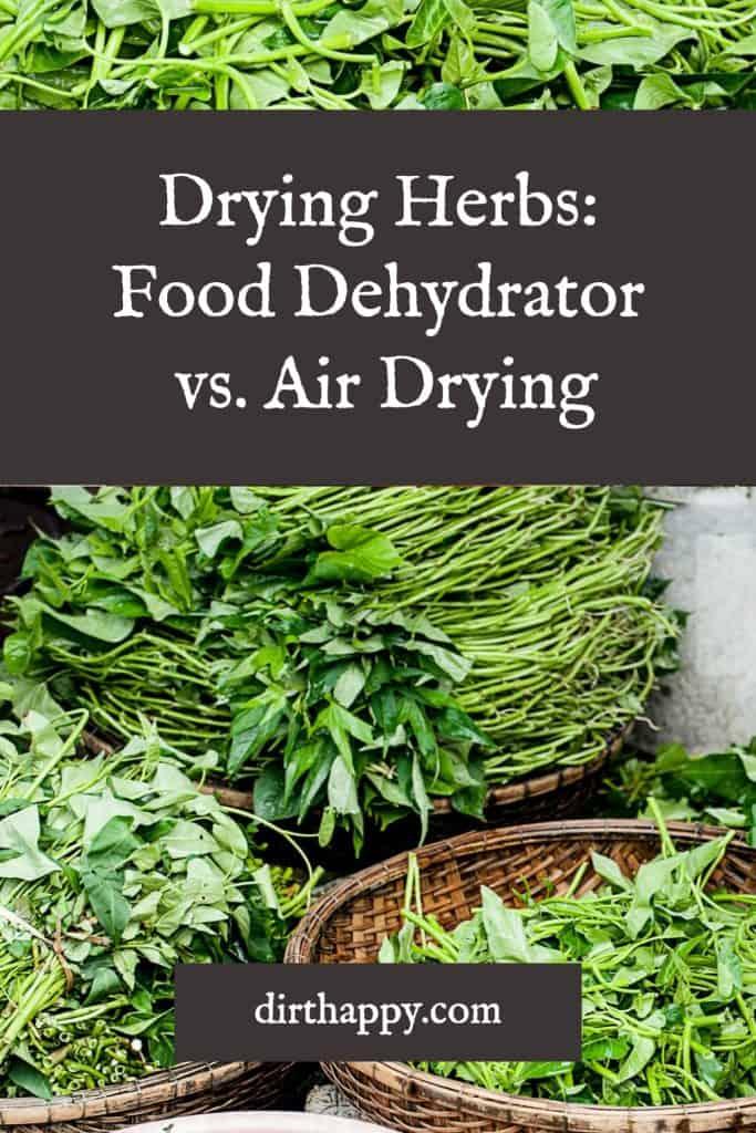 dehydrator vs air drying herbs